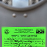 "Meter sticker ""Approval to Energize Service"": image 6 0f 6 thumb"