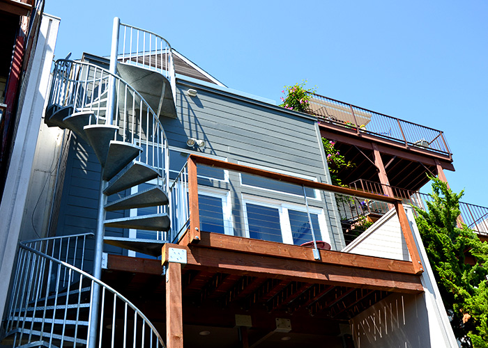 ... Exterior Staircase With Deck: Image 4 0f 4 Thumb